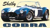 Picture blue shelby cobra with white racing stripe