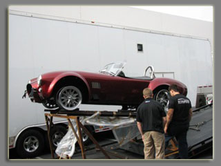 Picture Shelby car being shipped
